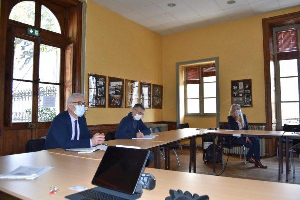 Le projet était présenté à M. Maignan, proviseur ; M. Lepage, agriculteur et acteur associatif ; Rozenn Parcheminer, responsable de l'internat et Mme Chauvelier, conseillère municipale (en visio).